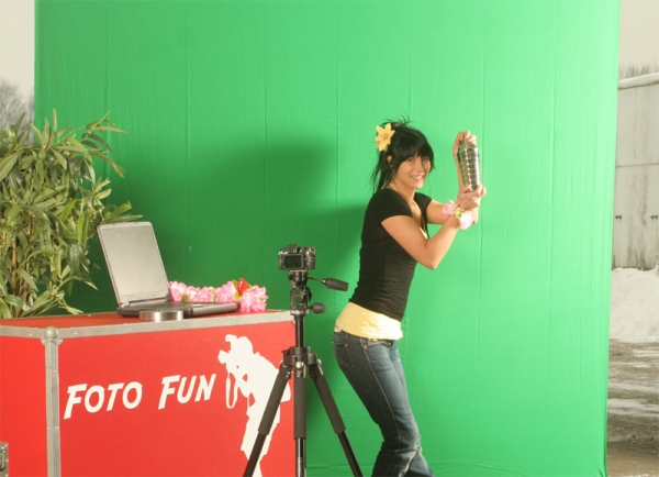 "Foto Fun Aktion ""Greenscreen"" mieten"